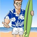 AC Jones with Surfboard