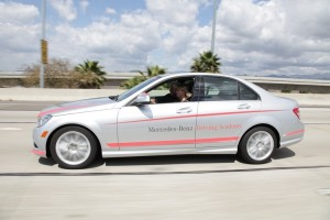 Mercedes-Benz teenage driver training academy in Los Angeles