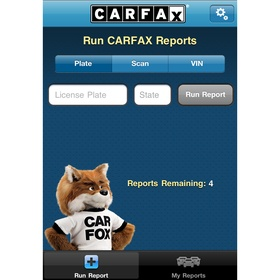 Carfax VIN iphone app