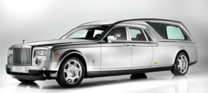 Rolls Royce luxury funeral car
