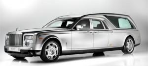 Rolls Royce luxury funeral car