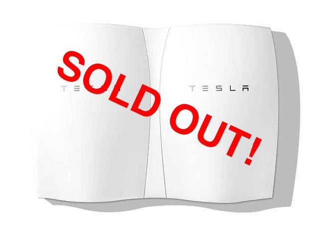 Tesla Powerall Sells Out