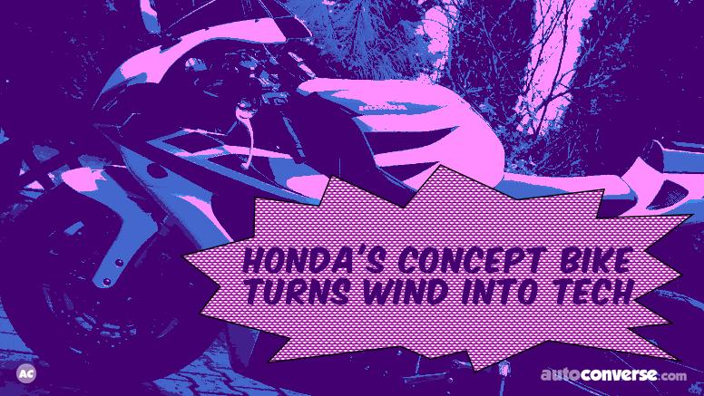 Honda Bike on Wind Power