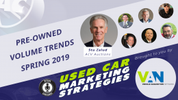 Pre-owned Vehicle Volume Trends for Spring 2019