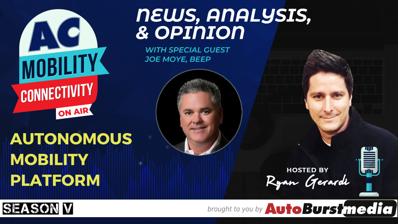 WED NOV 13. This Week on the Mobility Tech and Connectivity Show: Autonomous Mobility Solutions  💬