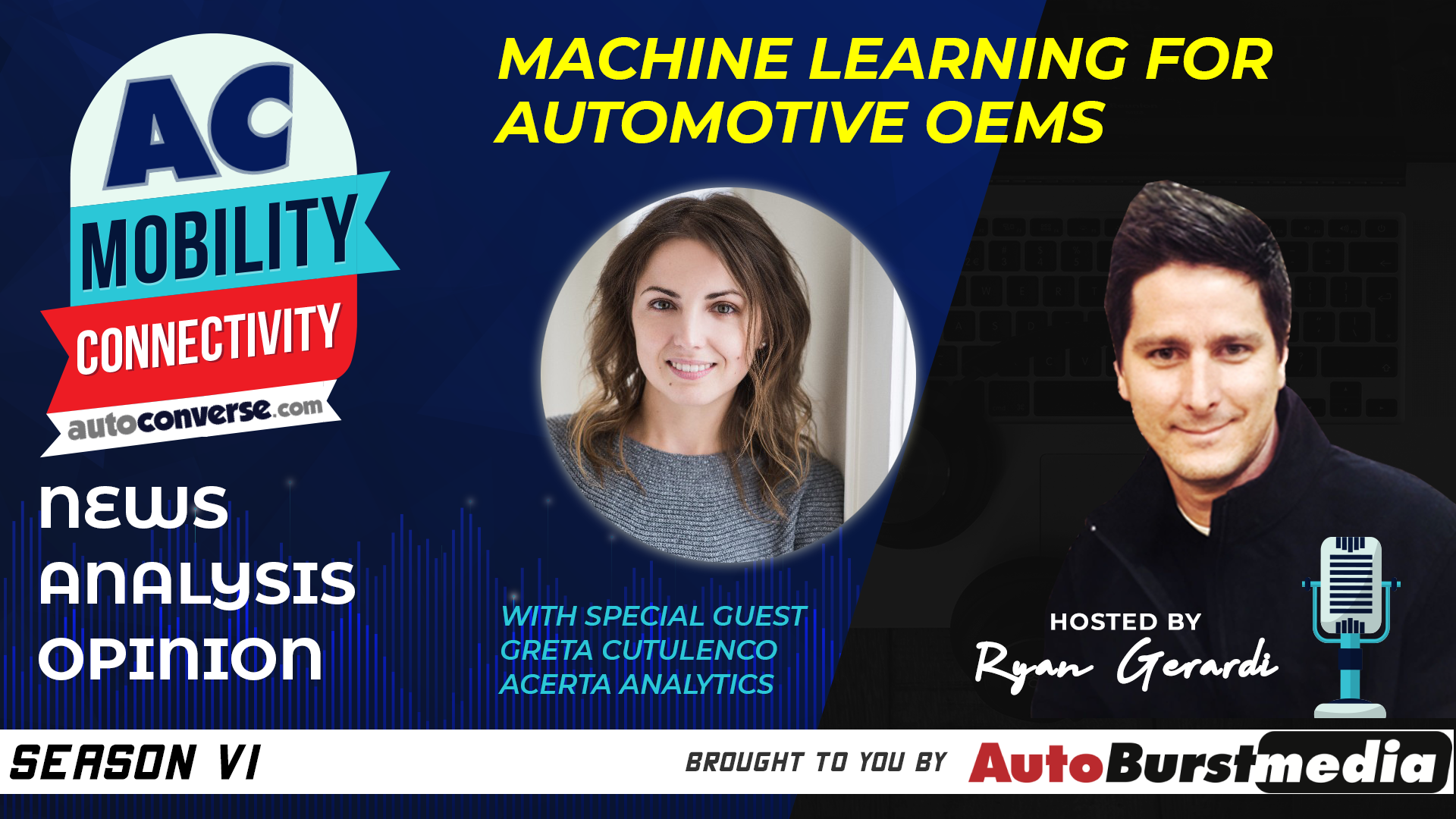 WED MAR 18. Biggest Challenge in Machine Learning for Engines. Conversation with Greta Cutulenco, Acerta Analytics