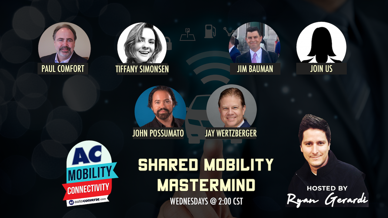 WED APR 8. How Shared Mobility is Transforming Auto Retail – Mastermind Discussion