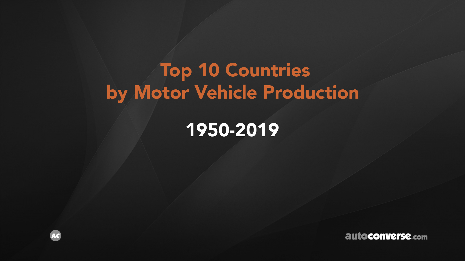 Top 10 Car Producing Countries from 1950-2019 [VIDEO]