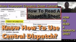 How To Read A Central Dispatch Sheet Tutorial