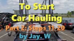 20 Steps to Start Car Hauling