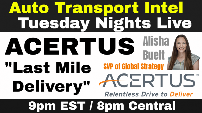 ACERTUS Last Mile Delivery: Vehicle Transport, Storage, Compliance & Care