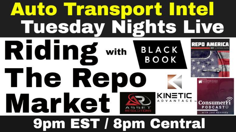 Auto Repossession Asset Recovery Car Transport: Black Book Repo Update