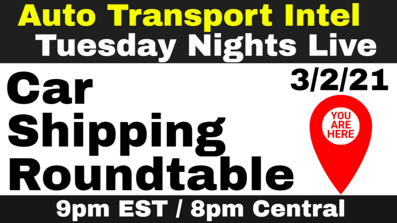 Network Your Auto Transport Business At Our Car Shipping Roundtable.