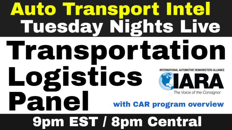 Vehicle Transportation Logistics Panel, Join IARA CAR Auto Remarketing