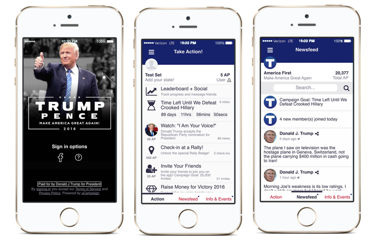 Trump America First App Privacy Concerns