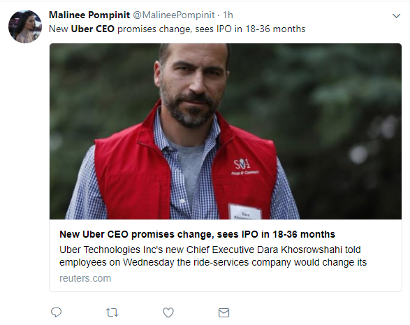 New Uber CEO Dara Khosrowshahi