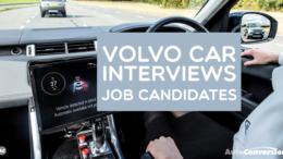 Volvo Car Interviews Job Candidates