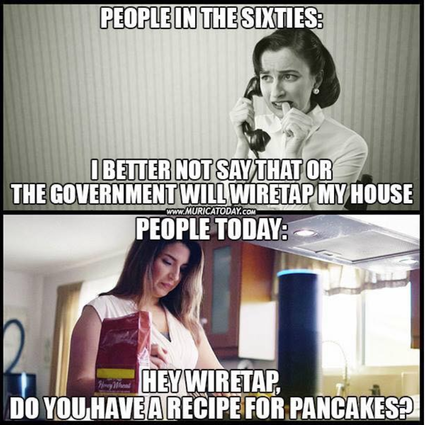 Contrast of wiretaps