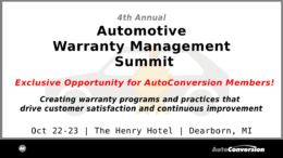 Automotive Warranty Management Summit 2019