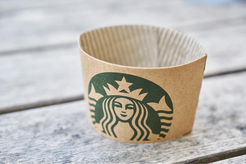 Starbucks Coffee Cup Sleeve Custom Labeling